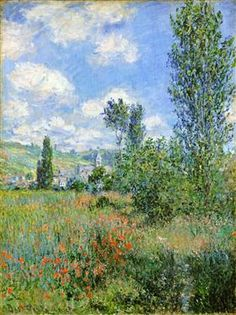 Lane in the Poppy Fields, Ile Saint-Martin - Claude Monet
