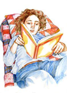 Acabando la lectura (ilustración de Juki)