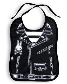 Six Bunnies Rocker Jacket Bib Tattoo Punk Rockabilly Baby Alternative Rock Black Rockabilly Baby, Rockabilly Outfits, Rockabilly Clothing, Girl Clothing, Biker Baby, Punk Baby, Baby Bats, Baby Rocker, Everything Baby