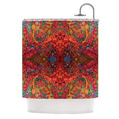 Kess InHouse Nikposium Red Sea Orange Abstract Shower Curtain 69 by 70Inch *** Find out more about the great product at the image link.