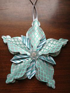 Winter Frost Christmas Ornament---rnament using the Winter Frost Specialty Designer Paper and Frosted Finishes Embellishments