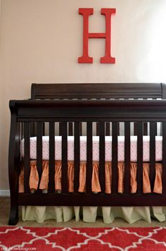 Baby Girl Nursery Ideas with Mohawk Home #FancyTrellisRug #hotpink