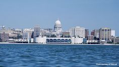 The Madison skyline over beautiful Lake Monona. Photo from the Greater Madison Convention & Visitor's Bureau (www.visitmadison.com)