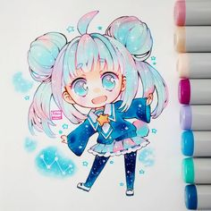 Anime drawing kawaii art, anime art и anime sketch. Anime Chibi, Kawaii Anime, Kawaii Chibi, Cute Chibi, Kawaii Art, Manga Anime, Anime Art, Copic Kunst, Arte Copic