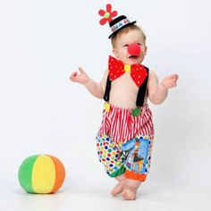 added a photo of their purchase Boys Clown Costume, Baby Costumes For Boys, Sibling Costume, Boy Costumes, Birthday Clown, Clown Party, Baby Boy Birthday, Carnival Birthday, Circus Outfits