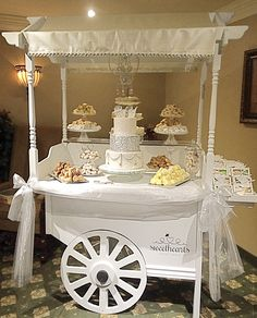 A stunning setup with delicious baked goods for a baby shower