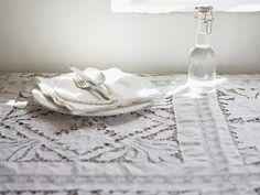 vintage lace white tablecloth