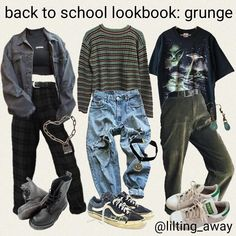 Grunge Outfits Aesthetic ` Grunge Outfits - Plus Size Fashion & Dress Grunge Outfits, Outfits Casual, Fashion Outfits, 80s Fashion, 90s Fashion Grunge, Fashion Styles, Fashion Belts, Summer Outfits, Grunge Clothes