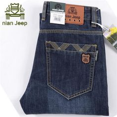 >> Click to Buy << NIAN AFS JEEP High Quality Real Men's Autumn/Winter Jeans,Light Blue Mid Waist Full Length Casual Leisure Cowboy's Denim Jean #Affiliate