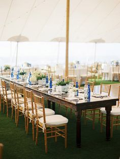 snippet and ink | reception | wedding tent | outdoor wedding reception | modern preppy wedding ideas