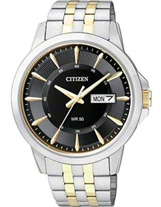 Citizen BF201852E Quartz Mens DayDate Watch  Black Dial  TwoTone Case and Bracelet *** Read more reviews of the product by visiting the link on the image.