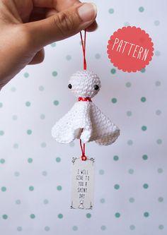 PATRÓN de Teru Teru Bozu amigurumi en crochet. Con por IamaMess