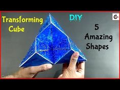 DIY | How To Make Amazing Transforming Cube From Paper With Measurements | Paper Art and Craft - YouTube