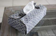 Tutoriel pour réaliser facilement une housse de boîte à mouchoirs. http://www.mondialtissus.fr/blog/customisez-une-boite-a-mouchoirs/