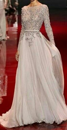 I want this beautiful Ellie Saab dress to wear to a fantastic winter ball!