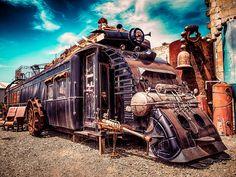 Steampunk Train Engine