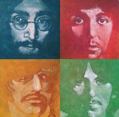 CANV00011 - Beatles by Stephen Fishwick (36x36 Canvas Print)