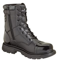 Thorogood has been providing quality work, uniform, and fire footwear since 1892. They are a leading manufacturer in engineering footwear safety and comfort. These oil tanned leather boots feature a g