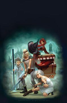 Terry Pratchett Sorcery cover illustration by katea
