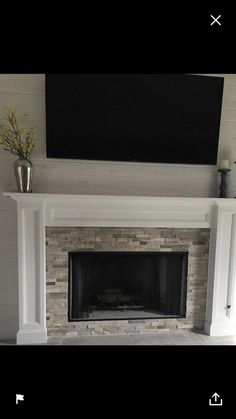Newest Free painted Fireplace Mantels Popular Mantel Surround Paint Grade Ready to paint Painted Fireplace Mantels, Tile Around Fireplace, Reface Fireplace, Fireplace Mantel Surrounds, Marble Fireplace Surround, Fireplace Frame, Brick Fireplace Makeover, Fireplace Built Ins, Small Fireplace