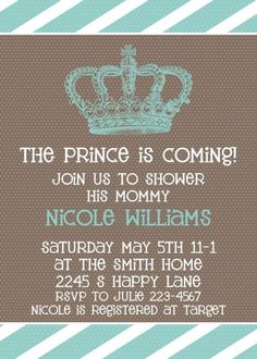 baby shower invite- to do if boy and go w the last name