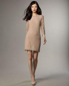Zarita Lace V-Back Dress by Diane von Furstenberg at Neiman Marcus.