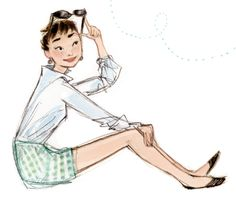 Just Being Audrey... Illustrations by Julia Denos