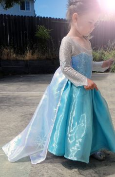 Children elsa frozen inspired costume by princesseopal on Etsy