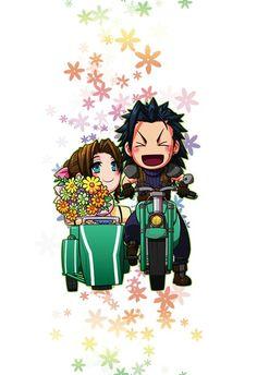 Aerith and Zack