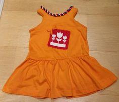 Sunny Sewing: Stoere, oranje jurk voor Koningsdag gemaakt van een heren T-shirt maat XXL