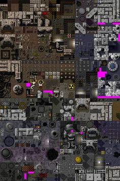 Amiga game tileset (maybe Alien Breed?) scifi top-down sprites