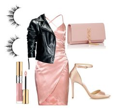 Girly date night outfit inspiration by alisha-hanif on Polyvore featuring polyvore, beauty, Yves Saint Laurent, Leka and Jimmy Choo