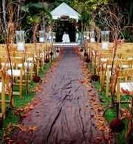 Kaylee will be throwing leaves, such a cute idea for our fall wedding