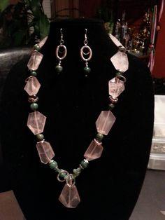Rose Quartz and African Jade