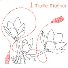 1 Martie Martisor * Desene de colorat * Spring Coloring pages