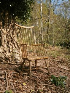 An Early Century Ash And Elm Primitive Stick Back Winsor Chair