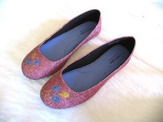 MLP Pinkie Pie Glitter Shoes. $70.00, via Etsy.