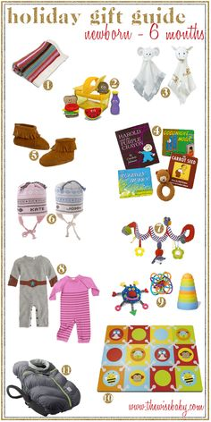 Who says newborns are hard to shop for?  Here's a great list for the newborn - 6month olds in your life!