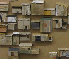 Cardboard City Cardboard City, Cardboard Sculpture, Cardboard Crafts, Cardboard Houses, Clay Houses, Box Houses, Paper Houses, Miniature Houses, Miniature Dolls
