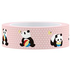 Masking Tape Panda 15mm AFT0018-70 von kiseki - Stoffe aus Japan auf DaWanda.com