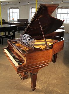 An antique, 1901 Steinway Model A grand piano with a rosewood case, filigree music desk and spade legs £10,000 at Besbrode Pianos