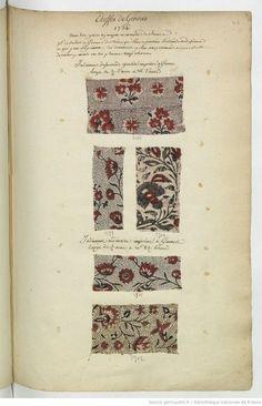 Etoffes de Gennes // 1736 // avec les prix en argent et mesure de France : [échantillons de tissus] | Gallica