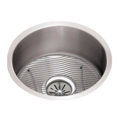Elkay Lustertone Stainless Steel x x Single Bowl Undermount Sink Kit Cleaning Sink Drains, Steel Wool, Wire Brushes, Stainless Steel Sinks, Installation Instructions, One Light, Kit, Bar Sinks, Ada Compliant
