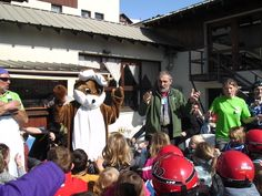 Oekkie in Valmeinier.Lekker dansen met de kinderen.
