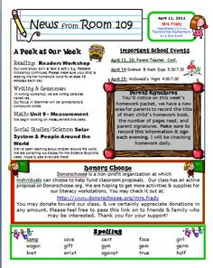 St Grade Monthly Newsletter Template on free editable one page, preschool printables, girl scout, for work, samples business, human resource,