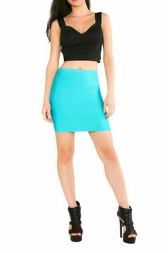 High quality jade bandage mini skirt with a bodycon fit. Rock this sexy number with a black strappy crop top and high heels for your next night out! Jade Bandage Mini by BRANDED. Clothing San Diego California