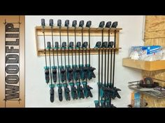 Clamp Rack for my Wolfcraft EHZ Clamps [ Time Lapse - Fast ] - YouTube