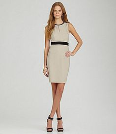Calvin Klein Sleeveless Keyhole Dress #Dillards