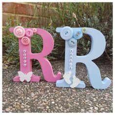 Personalised Freestanding Wooden Letter *Perfect Gift * Keepsake* Baby Boy/ Girl   eBay