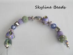 Jesses James 7 inch Bead Strand / Purple / Green / by SkylineBeads, $3.65